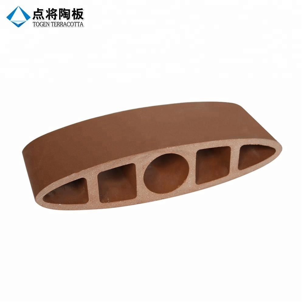 Customized shape decorative red terracotta tiles for exterior wall