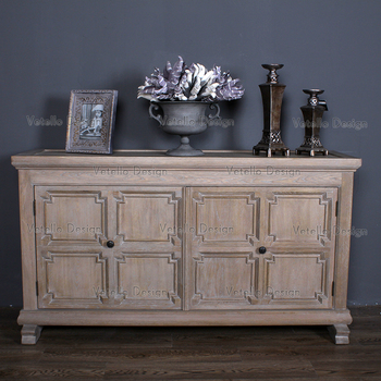 antique french style home used sideboard oak muddy grey cabinet