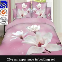 China supplier fantastic high quality cotton bedding set 3d polyester mesh fabric
