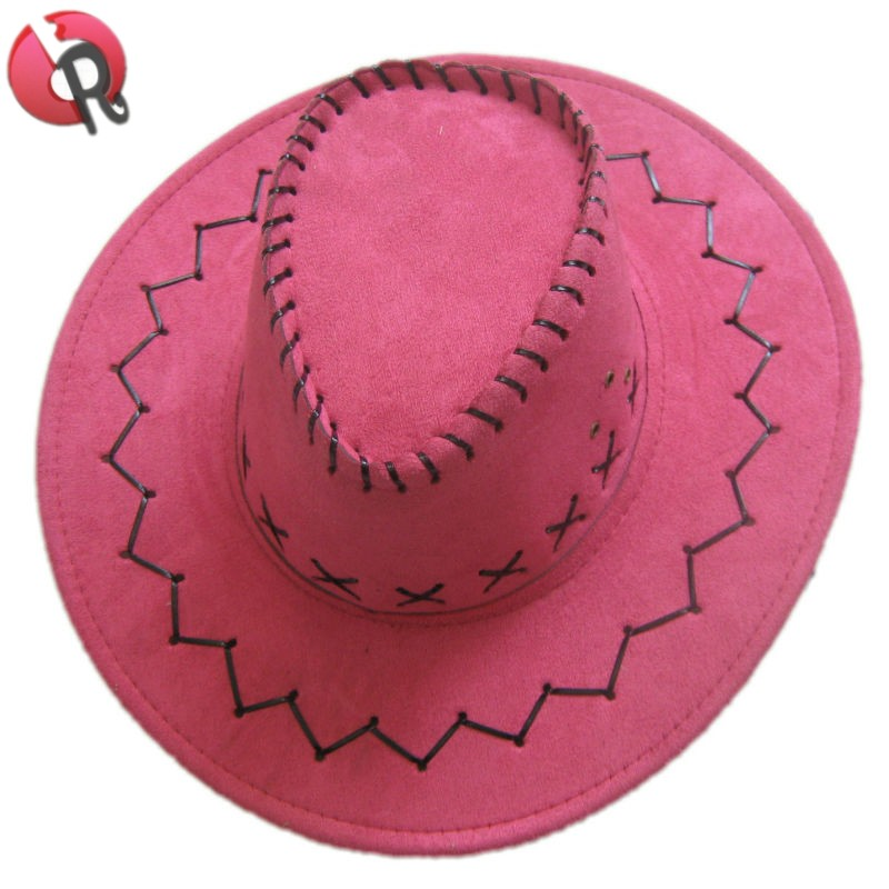 Cheap child and adult suede cowboy cowgirl wild western hat