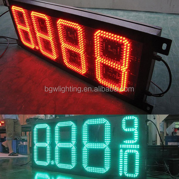 China programmable led sign wireless led price sign