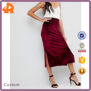 custom make velvet latest skirt design,new design design skirt
