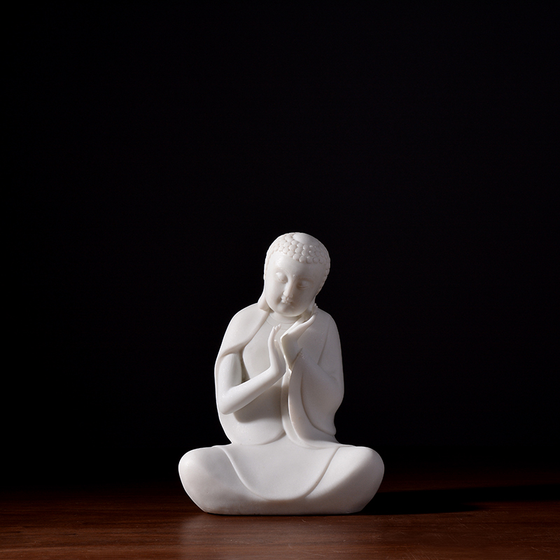 Darchin High Quality White Resin buddha for Home Decoration