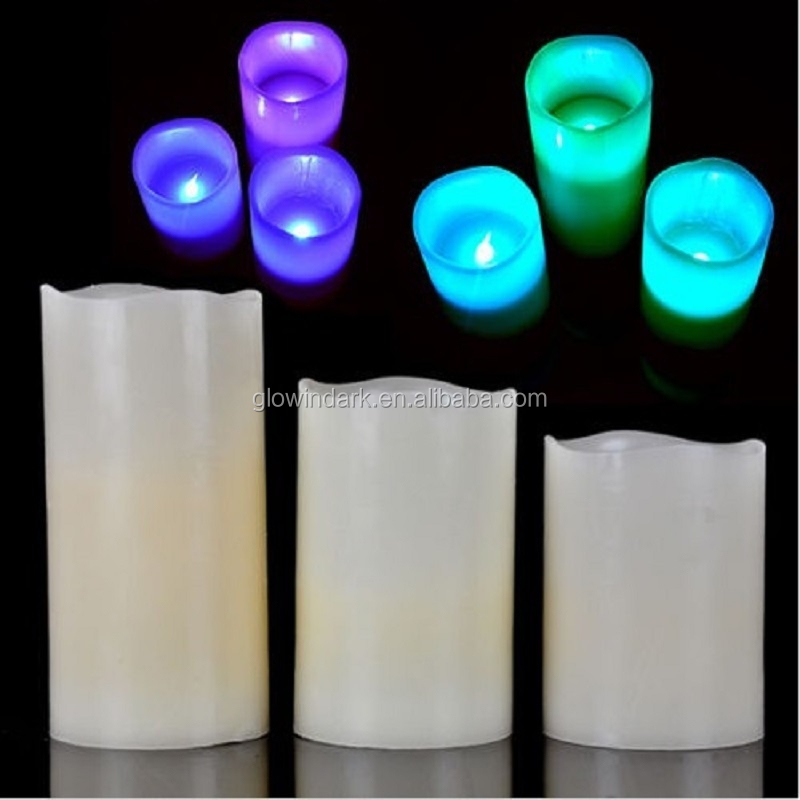 2016 christmas Holiday Glitter LED Pillar Candle with Timer,led tea light