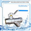 S1124 Brass Ball Valve With strainer