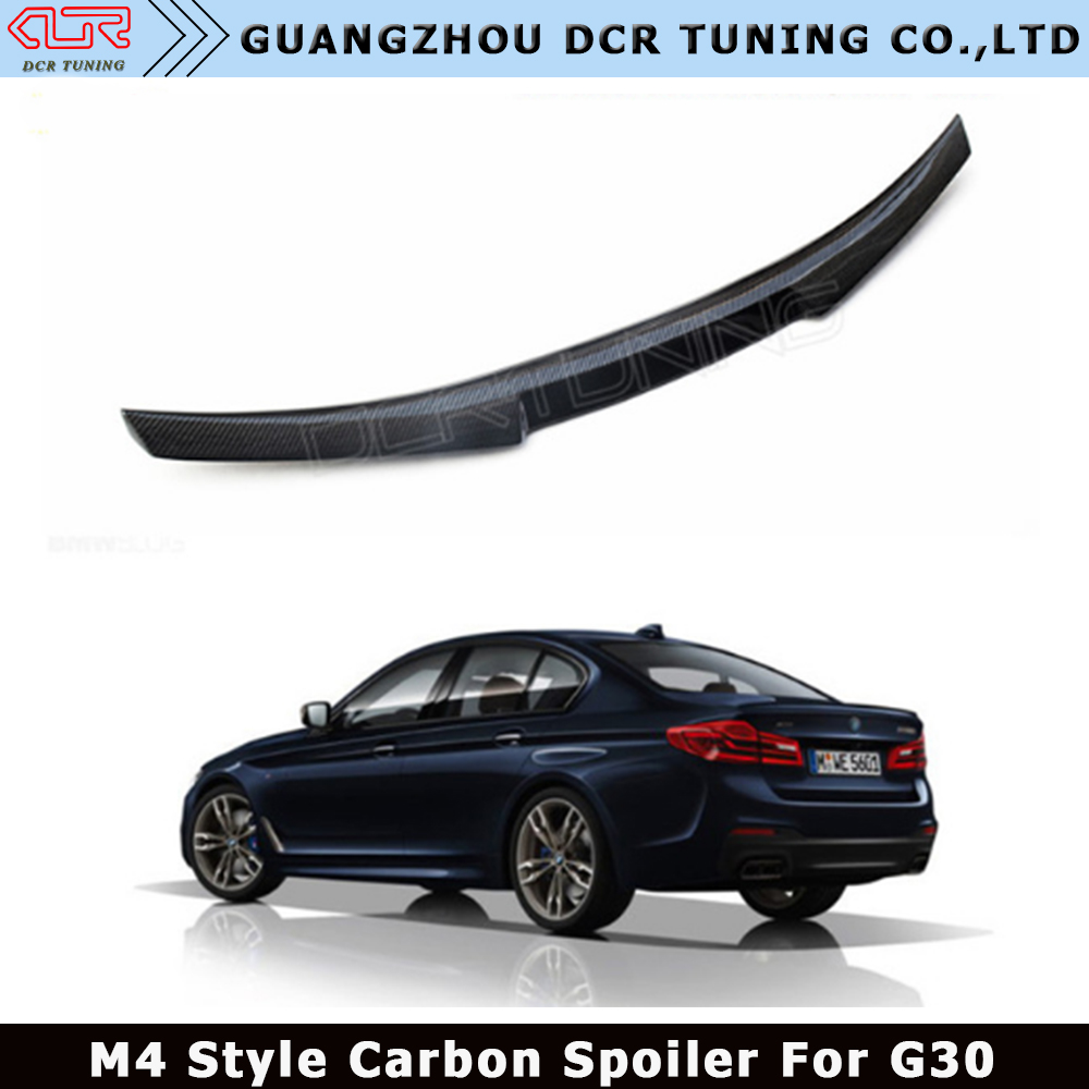 M Performance For BMW 5 Series G30 Spoiler 530i 540i Carbon Fiber Rear Trunk Spoiler Wings M4 Style 2017 - UP