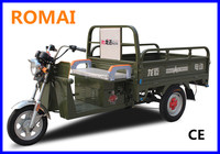 Romai 48V 1500W electric moped auto rickshaw price, e-rickshaw ,3 wheeler for cargo DC Brushless with Axle