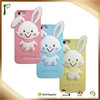 Popwide lovely Cute rabbit silicon case for iphone 6 and iphone 7