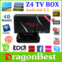 New!!! 2016 Z4 Android Tv Box Made In China Z4 Rk3368 Octa Core 64 Bit Tv Box Android 5.1 2Gb Ram 16Gb Rom Android Smart Tv Bo