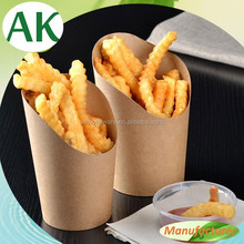 Disposable Wrapping Paper for Chips/Brown Kraft Paper Folding Box for Frence Fries