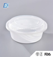 Microwave Round Transparent Eco Friendly Disposable Plastic Take Away Bento Box