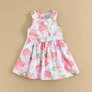 Summer Girls Clothes Woven Girls Party Dress Children Clothing Wholesale