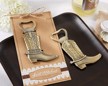 Wedding Favors Just Hitched Cowboy Boot Bottle Opener