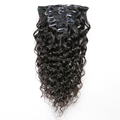 Best selling cheap 100% human hair clip in hair extensions for african american
