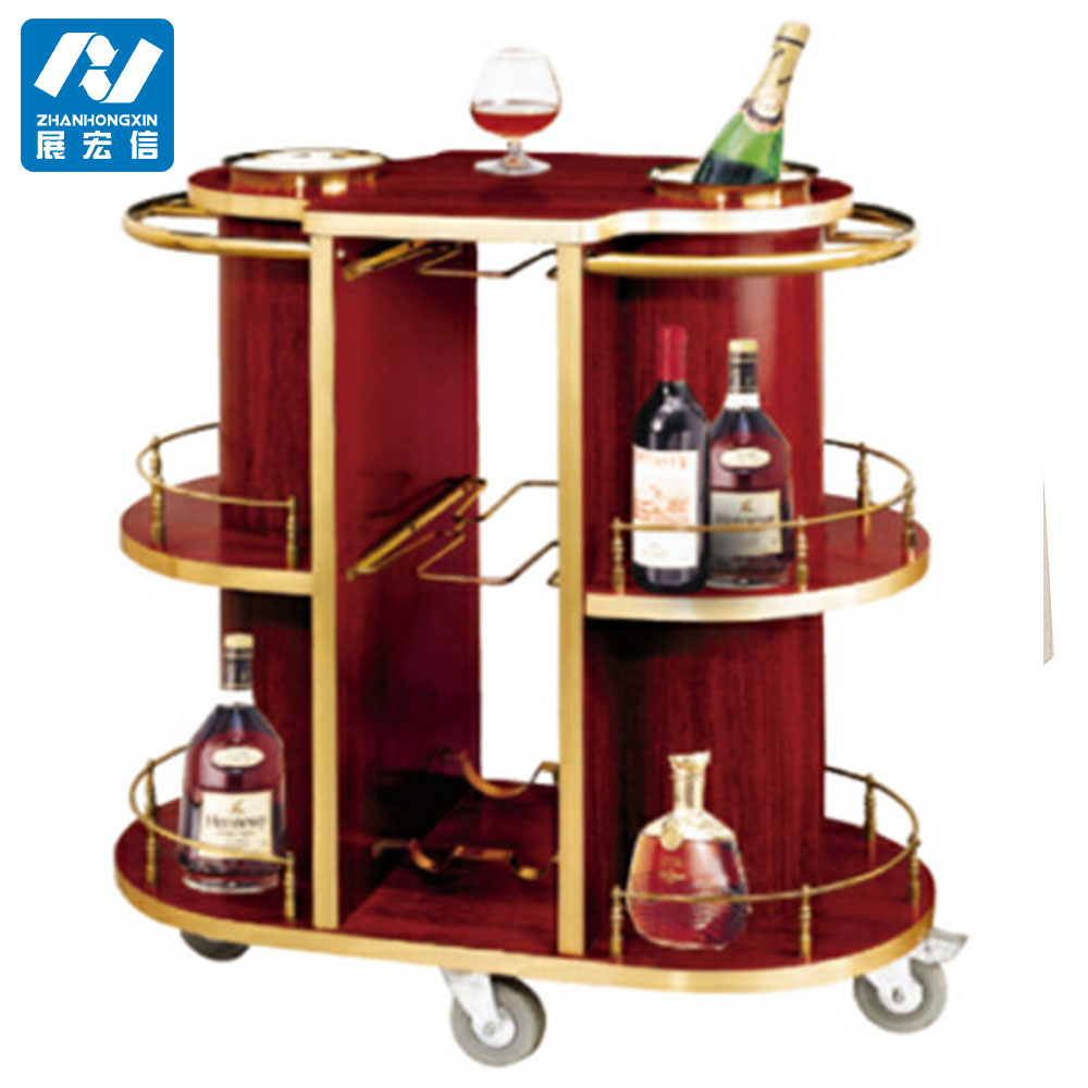 Preassembled stainless steel liquor and wine cart,bar cart