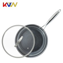 Hot sale stainless steel as seen on tv dry fry pan set