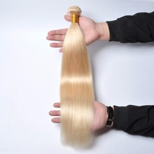 2017 Hot Sale Blonde Russian Human Hair Extension Weave Bundles Noble Gold Hair Weaving