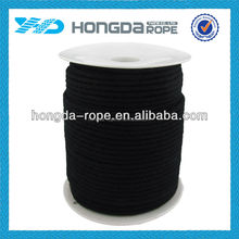 7mm X 200m black cotton braided bondage rope