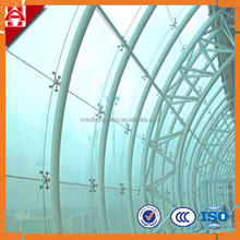 safety toughened curved glass for curtain wall