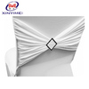 Strong quality wedding banquet spandex chair cover sash with buckle