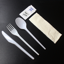 165mm inflight spoon fork knife disposable airline cutlery
