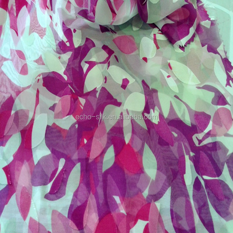 silk/rayon opal burn out fabric in digital printing