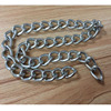 Stainless steel dog link chain with nylon handle