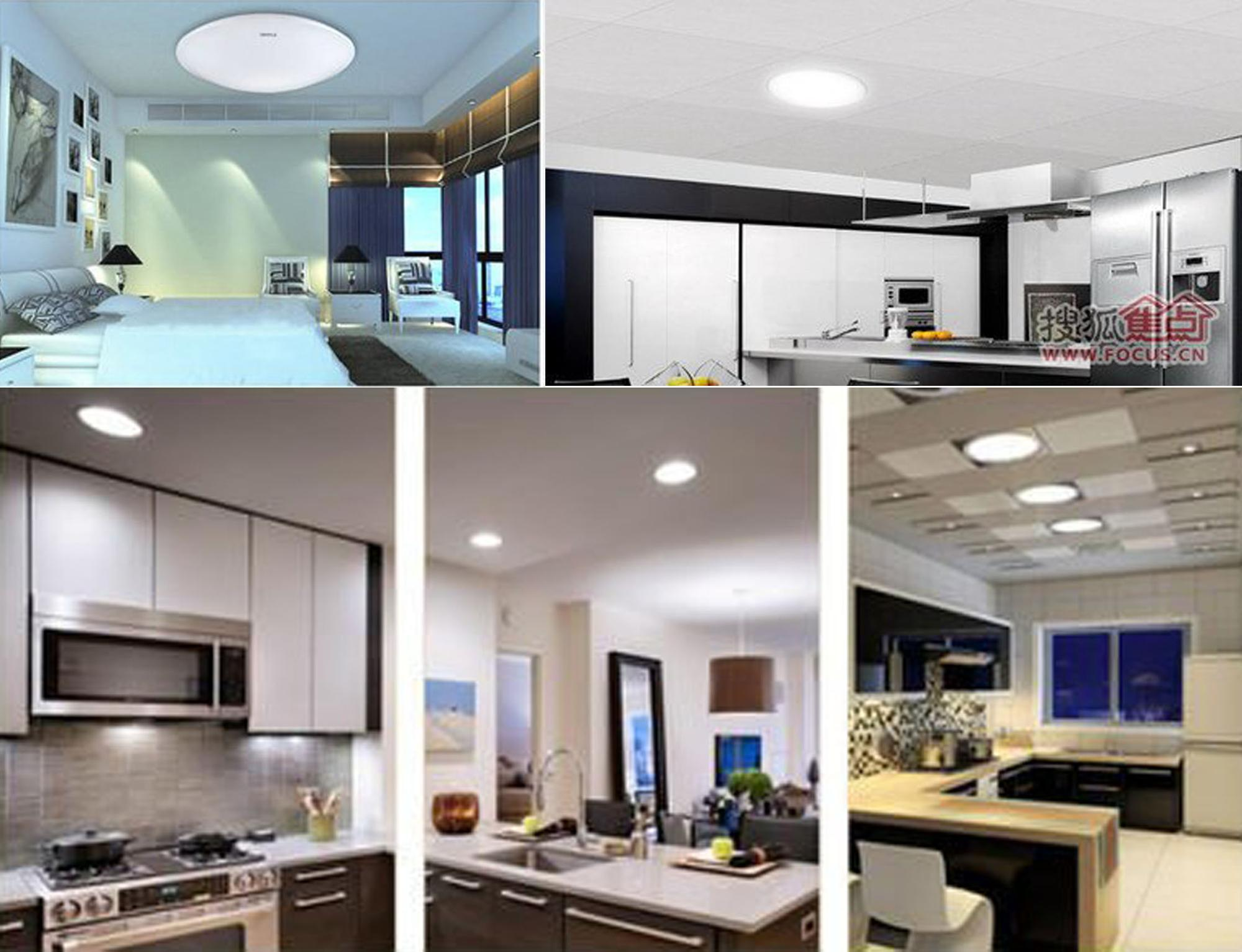 DLC ETL CE Led Apartment Panel Lighting Fixtures Children bedroom Lights Living Room dimmable square round Led Ceiling Light