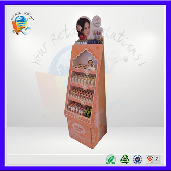 cardboard foot pad display stand ,cardboard floor display ,cardboard floor display shelf