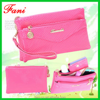 Womens wallets and purses with wrist strip and kinds of color design