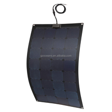 100W NEWEST hot sales semi-flexible solar panel with outlet for RV with SUNPOWER solar cell