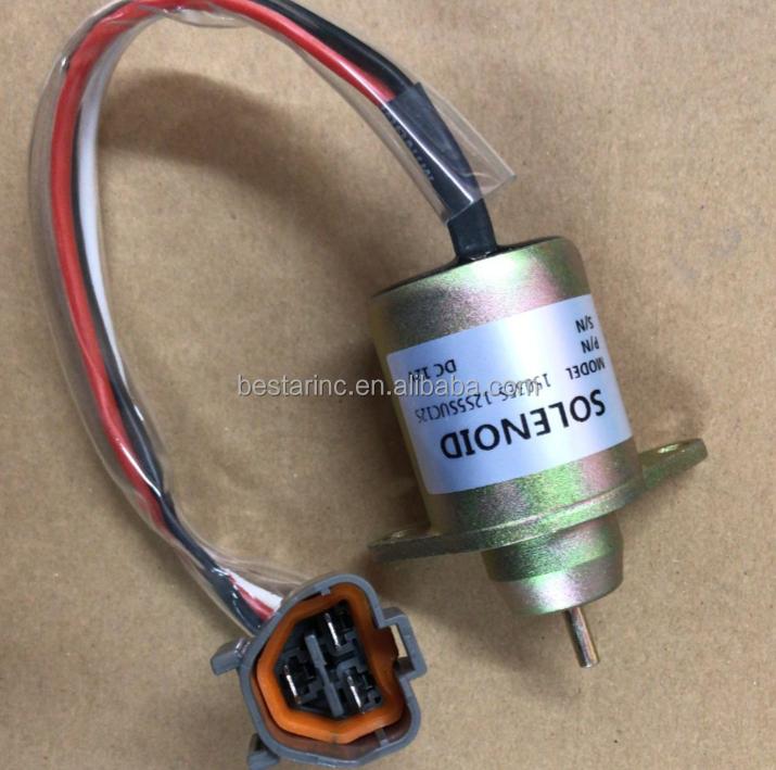 1503ES-12S5SUC12S 12V Shut Down Solenoid 119233-77932 M810324 Cut Off Solenoid for Model R55 R60-7 PC40 PC50 DH55 Parts