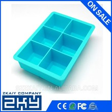 2015 six square ice cube trays silicone