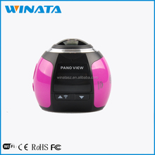 Factory OEM unique Full-Viewing sport dv camera 360 degree Fisheye Super wild angle single Lens action camera