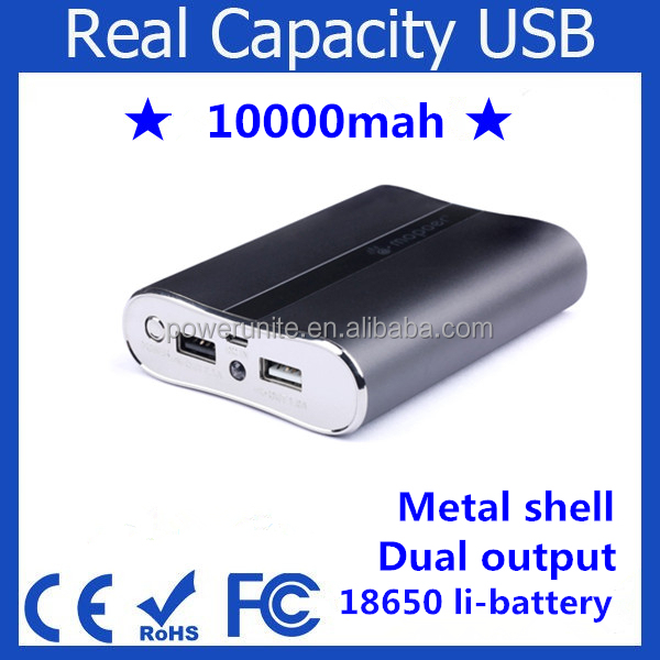 Mobile charger universal portable power bank 10000mah with custom logo.