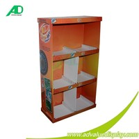 Corrugated Paper Counter Display Stands LOGO Embossed , PDQ Displays for photo album Soy-based ink printing