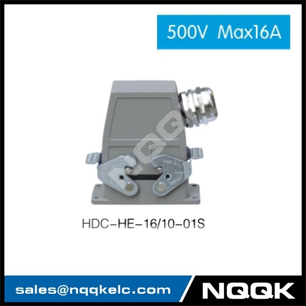1 HDC HE 01S 500V Max16A  Industrial rectangular plug socket heavy duty connector.jpg