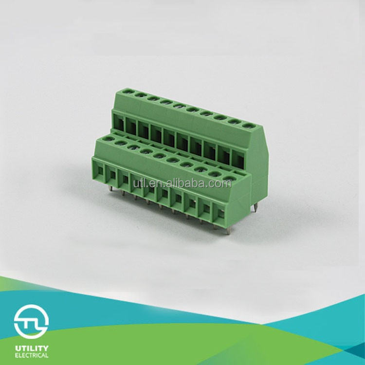 portable datd pcb mount screw terminal block MU1.0H2L3.5 UL VDE Approval pcb manufacturer Supplier in China