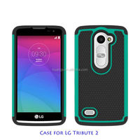 2015 Original Football design Silicone 3in1 triple defender Combo cover case for lg tribute 2 ls665 wholesale