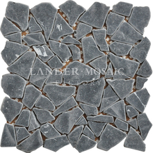 Lander Stone black color marble mosaic pebble stone tile outdoor floor stone mosaic