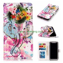 Leather Flip Phone Case For Iphone X Custom Printed Phone Case For Iphone4/5/6/7/8