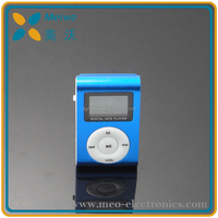 Top selling classic 1.1 inch screen mini metal clip mp3 player, cheap mp3 player