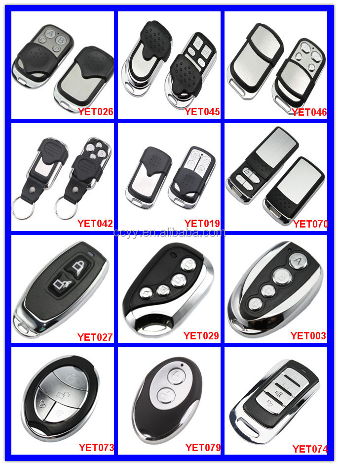 Yaoertai Universal remote control 433mhz wireless ev1527 learning code remote control