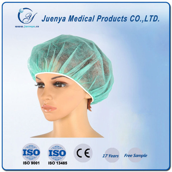 Polypropylene disposable surgical round hat, bouffant cap