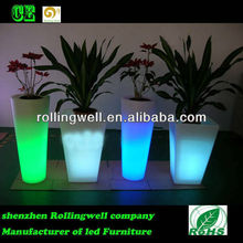 light up led flower pot large vase big plant container, rechargeable battery for flower vase