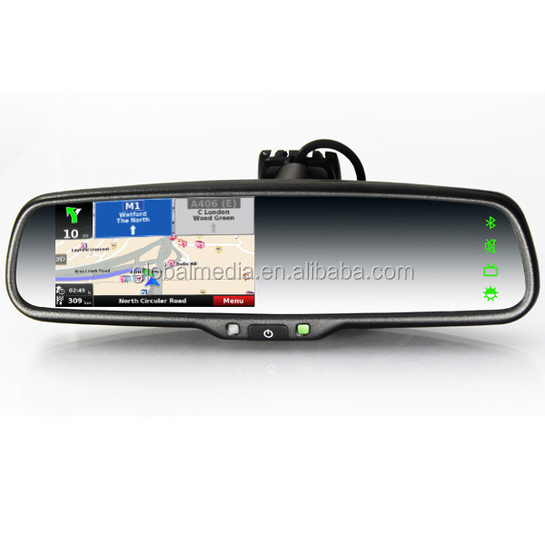 The lastset WINCE syaterm gps car rearview mirror with LCD touch screen,bluetooth phone