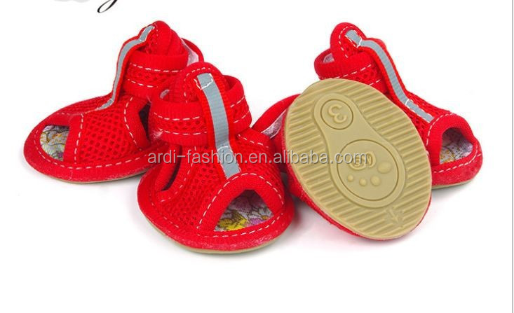 fashionable trendy summer dog shoes