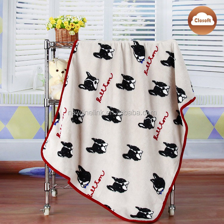 China wholesale Hot Sale Check print Flannel Fleece baby heated blanket