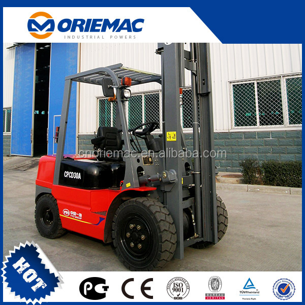 3 ton Gas Powered Forklifts CPD30 With 48v forklift electric motor
