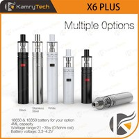 big vaporizer e cig factory price mech mod sub resistance X6 plus cigarette filter